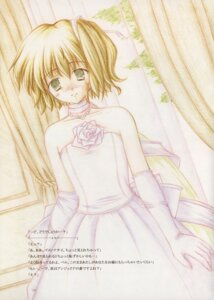 Rating: Safe Score: 4 Tags: dress iroenpitsu_shuukaijo katahane wedding_dress yukizuki_kei User: Radioactive