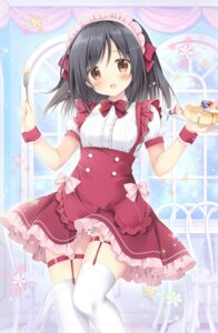 Rating: Questionable Score: 34 Tags: garter korie_riko maid pantsu skirt_lift stockings tagme thighhighs User: edogawaconan