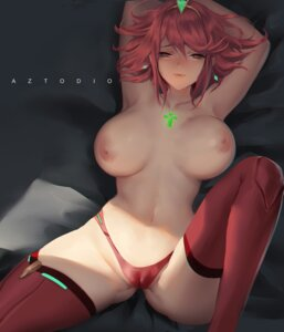 Rating: Questionable Score: 68 Tags: azto_dio cameltoe homura_(xenoblade_2) nipples pantsu thighhighs topless xenoblade xenoblade_chronicles_2 User: yanis