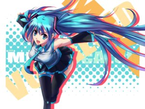 Rating: Safe Score: 26 Tags: hatsune_miku steelleets thighhighs vocaloid User: charunetra