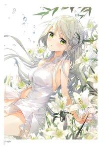Rating: Questionable Score: 51 Tags: dress fuumi no_bra nopan see_through summer_dress User: Twinsenzw