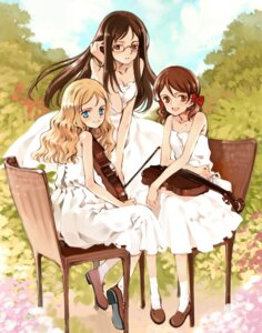 Rating: Safe Score: 16 Tags: charlotte_francia cleavage dress juni_argiano li_shuhua littlewitch megane oyari_ashito quartett! summer_dress User: petopeto
