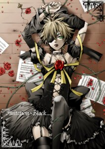 Rating: Safe Score: 10 Tags: crossdress hakuseki imitation_black_(vocaloid) kagamine_len male vocaloid User: yumichi-sama