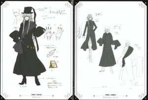 Rating: Safe Score: 3 Tags: character_design kuroshitsuji male monochrome undertaker User: charunetra