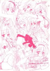 Rating: Questionable Score: 3 Tags: hinamatsuri_touko monochrome sketch User: crim