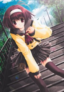 Rating: Safe Score: 20 Tags: akane_makes_revolution ikegami_akane seifuku thighhighs User: MirrorMagpie