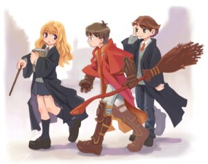 Rating: Safe Score: 11 Tags: harry_potter harry_potter_(character) hermione_granger nomura_ryouji ron_weasley User: Radioactive