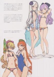 Rating: Questionable Score: 15 Tags: bikini cleavage gun oyari_ashito shoujo_kishidan sketch swimsuits tagme User: Radioactive