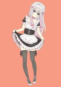 Rating: Safe Score: 64 Tags: dylannn eromanga-sensei izumi_sagiri maid skirt_lift thighhighs User: Deadhunt