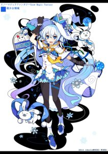 Rating: Safe Score: 46 Tags: hatsune_miku ideolo pantyhose vocaloid yuki_miku User: fairyren