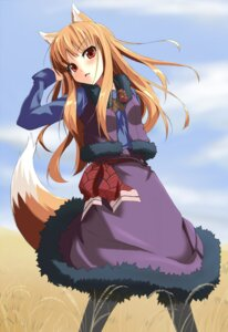 Rating: Safe Score: 36 Tags: animal_ears grune_(artist) holo spice_and_wolf tail User: MDGeist