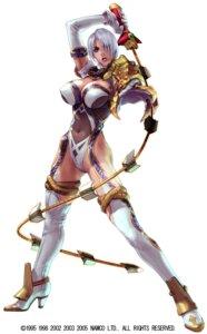 Rating: Questionable Score: 10 Tags: armor erect_nipples garter heels ivy_valentine kawano_takuji leotard namco soul_calibur soul_calibur_iii stockings thighhighs weapon User: Yokaiou