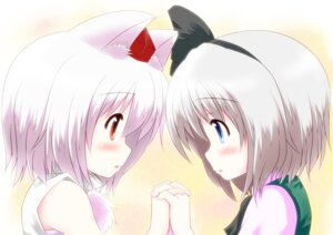 Rating: Safe Score: 32 Tags: animal_ears inubashiri_momiji kay-u konpaku_youmu touhou User: hobbito
