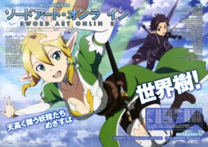 Rating: Safe Score: 28 Tags: alfheim_online cleavage kirito leafa pointy_ears sword sword_art_online thighhighs toya_kento User: yd6137