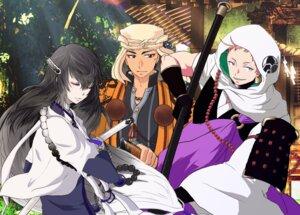 Rating: Safe Score: 6 Tags: iwatooshi juzumaru_tsunetsugu_(tourabu) male nevenotte sword touken_ranbu weapon yamabushi_kunihiro User: joshuagraham