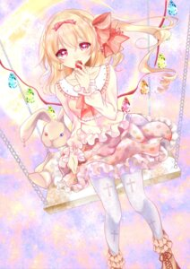 Rating: Safe Score: 25 Tags: dress flandre_scarlet pantyhose shanghai_bisu touhou wings User: Mr_GT
