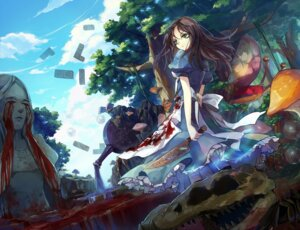 Rating: Safe Score: 32 Tags: alice alice:_madness_returns alice_in_wonderland ane_niku blood dress landscape weapon User: Zenex