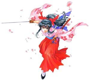 Rating: Safe Score: 17 Tags: fujishima_kousuke japanese_clothes sakura_taisen shinguuji_sakura sword User: Radioactive