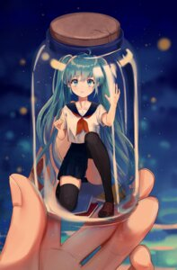 Rating: Safe Score: 55 Tags: ama_(997841291) hatsune_miku pantsu seifuku thighhighs vocaloid User: Mr_GT