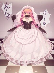 Rating: Questionable Score: 7 Tags: bondage dress kaddo louise no_bra wedding_dress zero_no_tsukaima User: Munchau