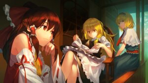 Rating: Safe Score: 35 Tags: alice_margatroid dress hakurei_reimu jandy kirisame_marisa touhou User: charunetra