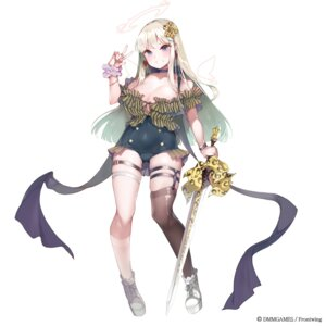 Rating: Questionable Score: 18 Tags: angel dmm_games front_wing garter kanola_u no_bra stockings sword tagme thighhighs wings User: Dreista