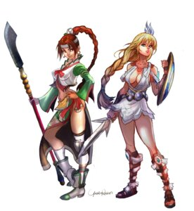 Rating: Questionable Score: 5 Tags: armor no_bra seung_mina sophitia_alexandra soul_calibur sword thighhighs weapon User: Yokaiou