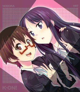 Rating: Safe Score: 8 Tags: akiyama_mio jpeg_artifacts k-on! manabe_nodoka seifuku zpolice User: Syko83