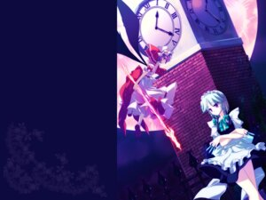Rating: Safe Score: 10 Tags: frac izayoi_sakuya maid motomiya_mitsuki remilia_scarlet touhou wallpaper weapon User: WtfCakes
