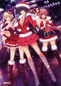 Rating: Safe Score: 95 Tags: age_(studio) christmas cleavage dress ilfriede_von_feulner isumi_marika kimi_ga_ita_kisetsu lolita_fashion miyata_ao muvluv no_bra open_shirt schwarzesmarken takamura_yui thighhighs User: Share
