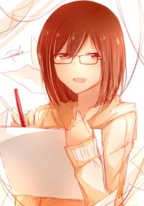 Rating: Safe Score: 17 Tags: megane peneko sketch User: A-chan