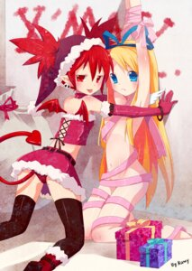 Rating: Questionable Score: 77 Tags: disgaea etna flonne loli m.vv naked_ribbon pointy_ears tail thighhighs wings yuri User: Radioactive