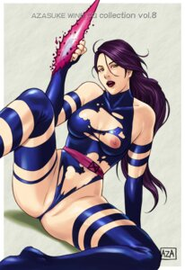 Rating: Questionable Score: 17 Tags: azasuke azasuke_wind garter_belt leotard nipples official_watermark psylocke thighhighs torn_clothes x-men User: Radioactive