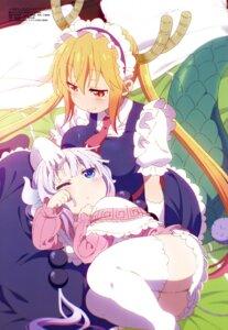 Rating: Safe Score: 61 Tags: horns kanna_kamui kobayashi-san_chi_no_maid_dragon maid skirt_lift tail thighhighs tokuyama_tamami tooru_(kobayashi-san_chi_no_maid_dragon) User: drop