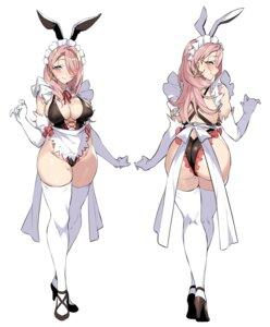 Rating: Questionable Score: 35 Tags: animal_ears ass bunny_ears erect_nipples heels maid senri_gan swimsuits thighhighs User: Dreista