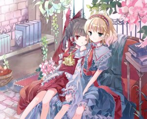 Rating: Safe Score: 26 Tags: alice_margatroid cierra_(artist) hakurei_reimu touhou User: Radioactive
