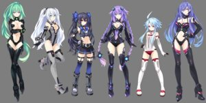 Rating: Questionable Score: 129 Tags: black_heart bodysuit choujigen_game_neptune cleavage green_heart heels iris_heart kami_jigen_game_neptune_v noire purple_heart thighhighs transparent_png tsunako white_heart User: gogotea28