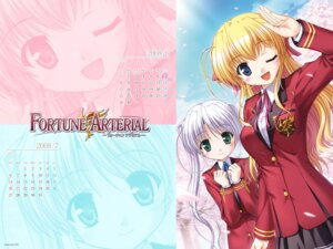 Rating: Safe Score: 9 Tags: bekkankou calendar fortune_arterial sendou_erika tougi_shiro wallpaper User: admin2