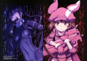 Rating: Safe Score: 24 Tags: bodysuit gun gun_gale_online kanzaki_elsa kohiruimaki_karen llenn nishimura_rie pitohui possible_duplicate sword_art_online_alternative:_gun_gale_online tattoo User: drop