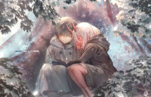 Rating: Safe Score: 22 Tags: bandages darling_in_the_franxx hiro_(darling_in_the_franxx) horns sa'yuki zero_two_(darling_in_the_franxx) User: 김도엽