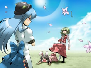 Rating: Safe Score: 2 Tags: animal_ears bunny_ears inaba_tewi touhou tsuki_wani wallpaper User: Radioactive