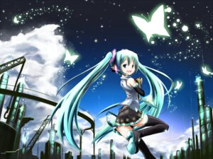 Rating: Safe Score: 10 Tags: hatsune_miku hokushin thighhighs vocaloid wallpaper User: charunetra