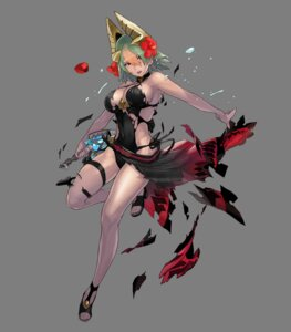 Rating: Questionable Score: 16 Tags: cleavage fire_emblem fire_emblem_heroes garter heels horns laegjarn maeshima_shigeki nintendo see_through skirt_lift swimsuits torn_clothes weapon User: fly24