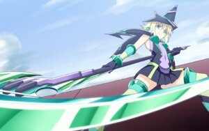 Rating: Safe Score: 15 Tags: akatsuki_kirika armor bodysuit h-new senki_zesshou_symphogear senki_zesshou_symphogear_g thighhighs wallpaper weapon User: WhiteExecutor