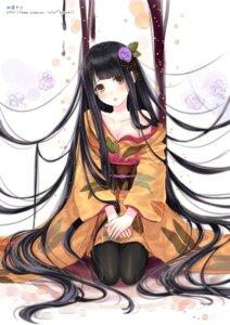 Rating: Safe Score: 62 Tags: cleavage kazuharu_kina kimono pantyhose User: 椎名深夏