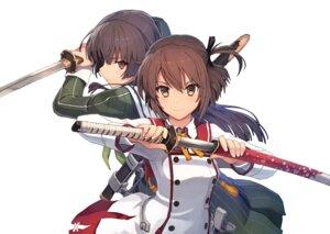 Rating: Safe Score: 46 Tags: etou_kanami juujou_hiyori seifuku shizuma_yoshinori sword toji_no_miko User: saemonnokami