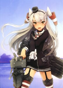 Rating: Safe Score: 84 Tags: amatsukaze_(kancolle) kantai_collection screening shizuma_yoshinori stockings thighhighs User: demonbane1349