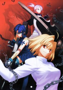Rating: Safe Score: 6 Tags: arcueid_brunestud ciel fixed melty_blood michael_roa_valdamjong riesbyfe_stridberg takeuchi_takashi thighhighs tsukihime type-moon weapon User: DDD