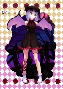 Rating: Safe Score: 30 Tags: dress garter remilia_scarlet sonic0_0 touhou wings User: charunetra