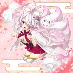 Rating: Safe Score: 29 Tags: animal_ears cleavage japanese_clothes kitsune sakura_chiyo_(konachi000) tail thighhighs User: Mr_GT